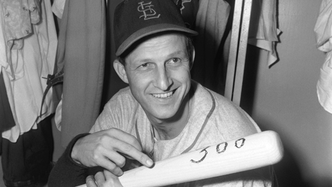 Stan Musial went 33-13 as a pitcher over three seasons in the Minor Leagues.